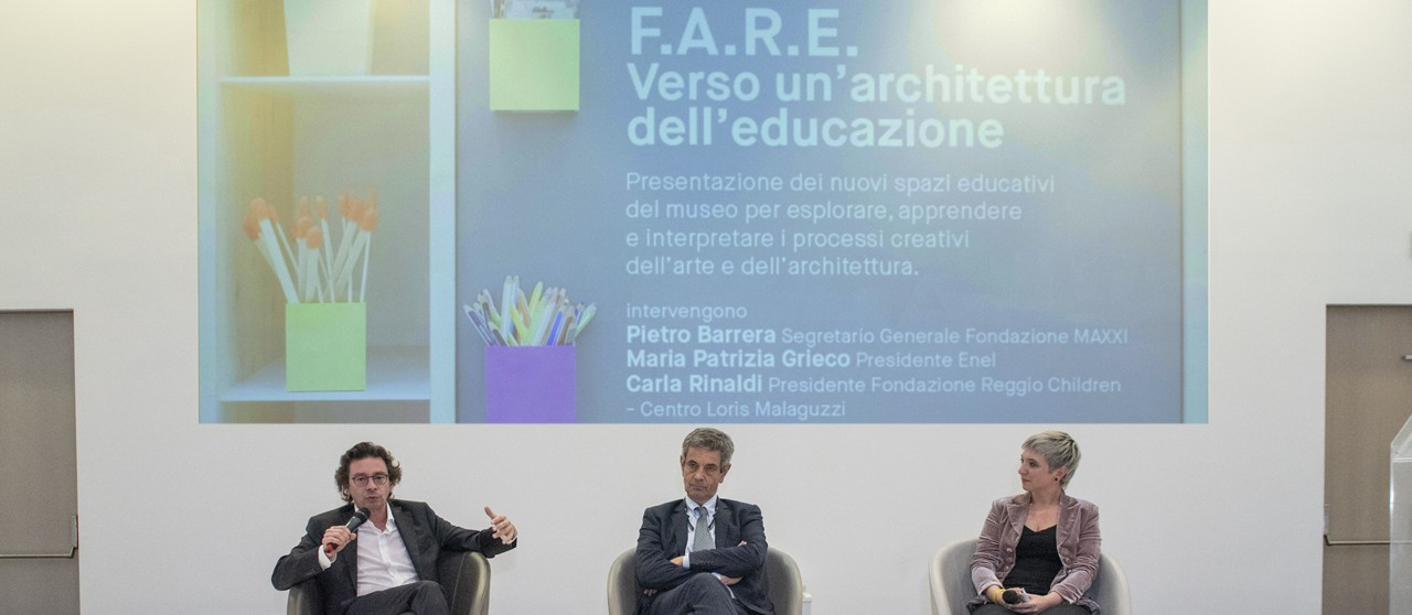Andrea Valcalda, Consigliere delgato Enel Cuore at the presentation of EduLab in The Museo MAXXI in Romae- Enel.it